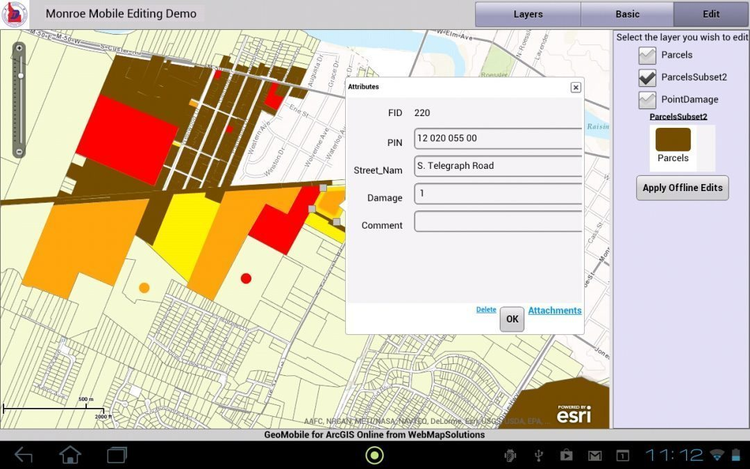 Mobile ArcGIS Online for Disaster Management